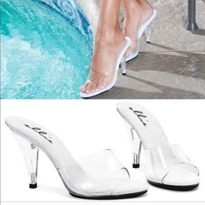 Clear heels on trend